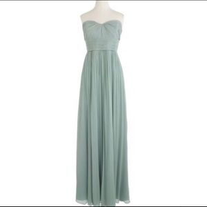 J Crew Dusty Shale Bridesmaid Dress